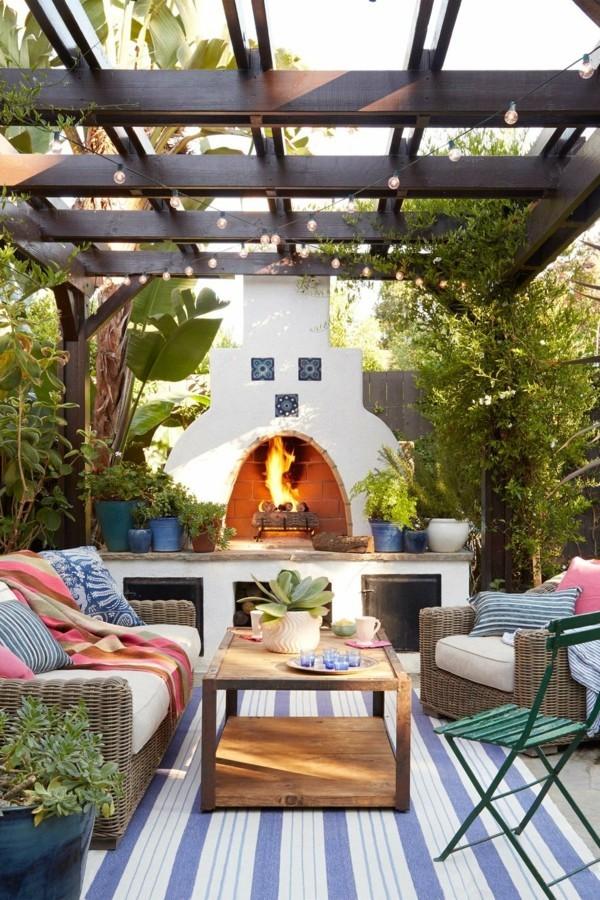 outdoor küche exotischer stil garten lounge