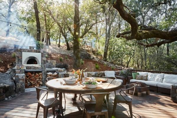 outdoor küche garten lounge rustikale idee