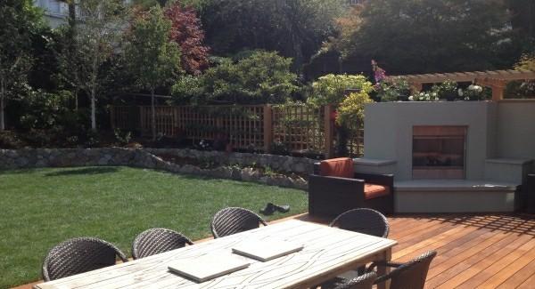 outdoor küche garten lounge sonnige stimmung