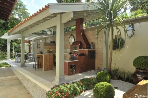 outdoor küche garten lounge vorgarten idee