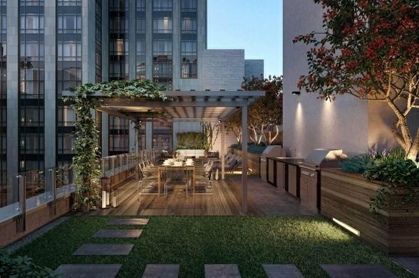 outdoor küche grüner hof in der stadt garten lounge