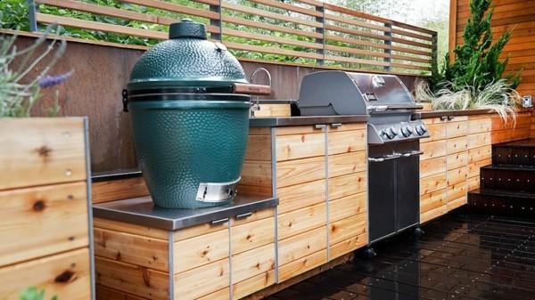 outdoor küche hoz abstellflächen garten lounge