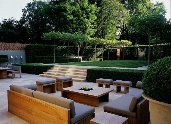 outdoor küche hoz und polsterung garten lounge
