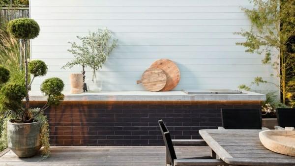 outdoor küche schöne einbaumöbel garten lounge