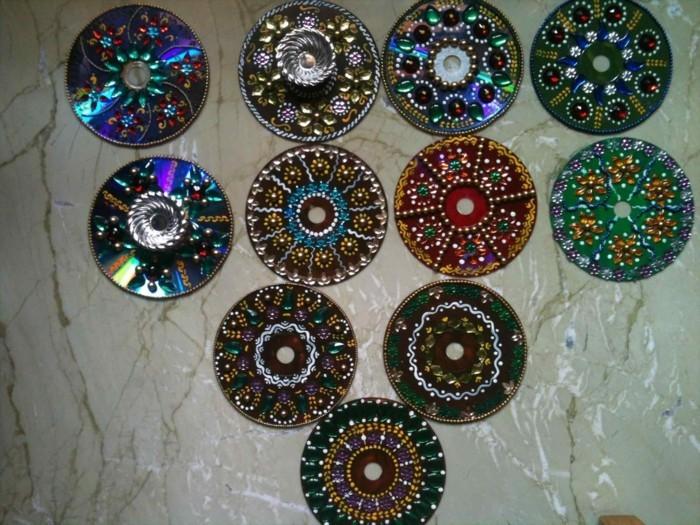 recycling bastelin mit cds upcycling ideen wand deko ideen farbgestaltung