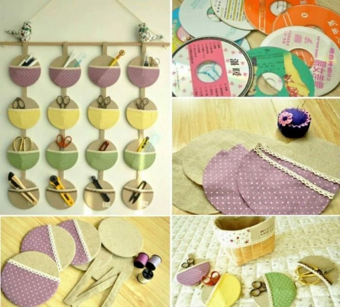 recycling bastelin mit cds upcycling ideen wand deko ideen organizer