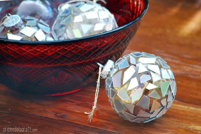 recycling bastelin mit cds upcycling ideen wand deko ideen weihnachtsschmuck selber machen