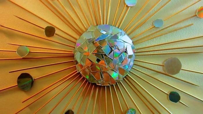 recycling bastelin mit cds upcycling ideen wand deko ideen wohnzimmer