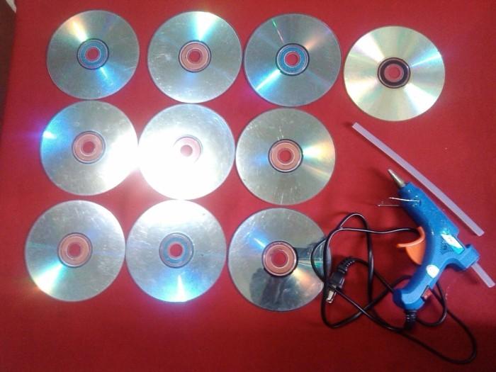 recycling bastelin mit cds upcycling ideen wand deko ideen