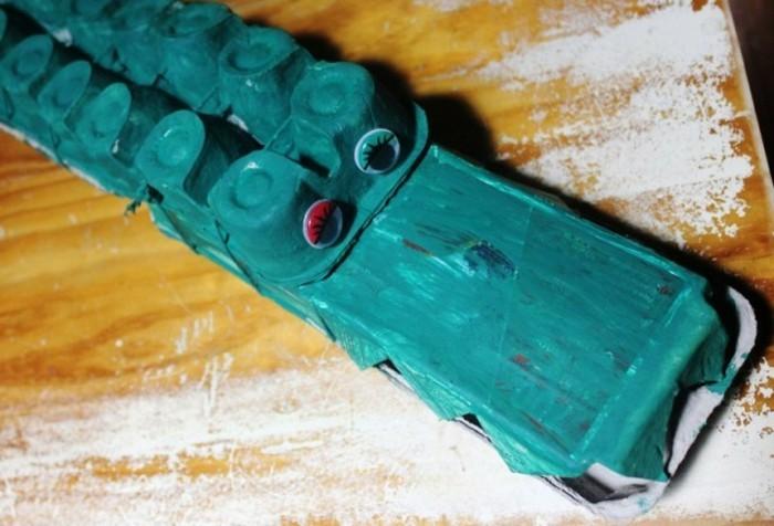 resycling basteln mit eierkarton basteln mit kindern basteln mit klopapierrollen krokodile