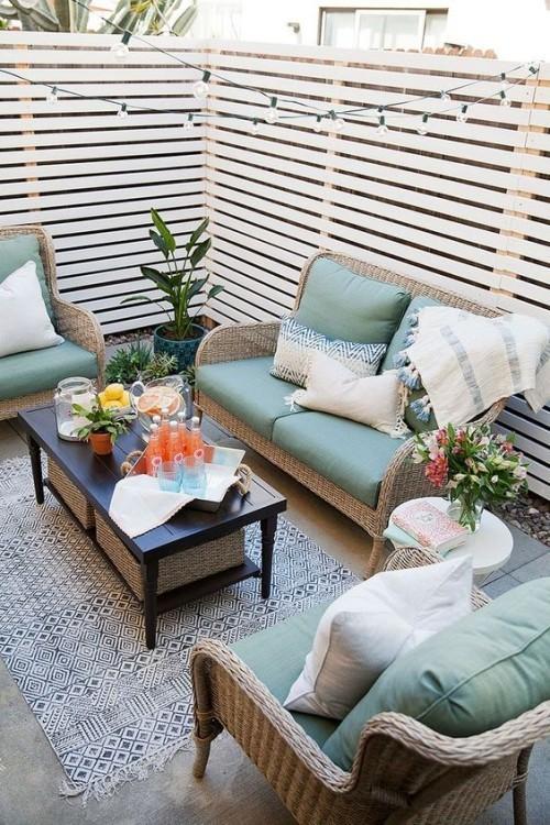 schöne Möbel Teppich