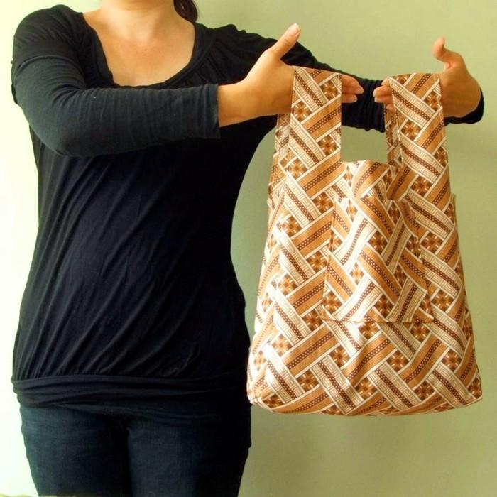 stoffbeutel naehen upcycling ideen einkaufstasche beutel