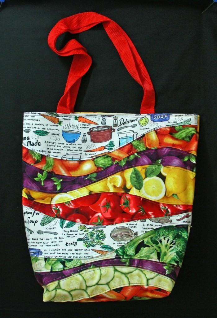 stoffbeutel naehen upcycling ideen einkaufstasche