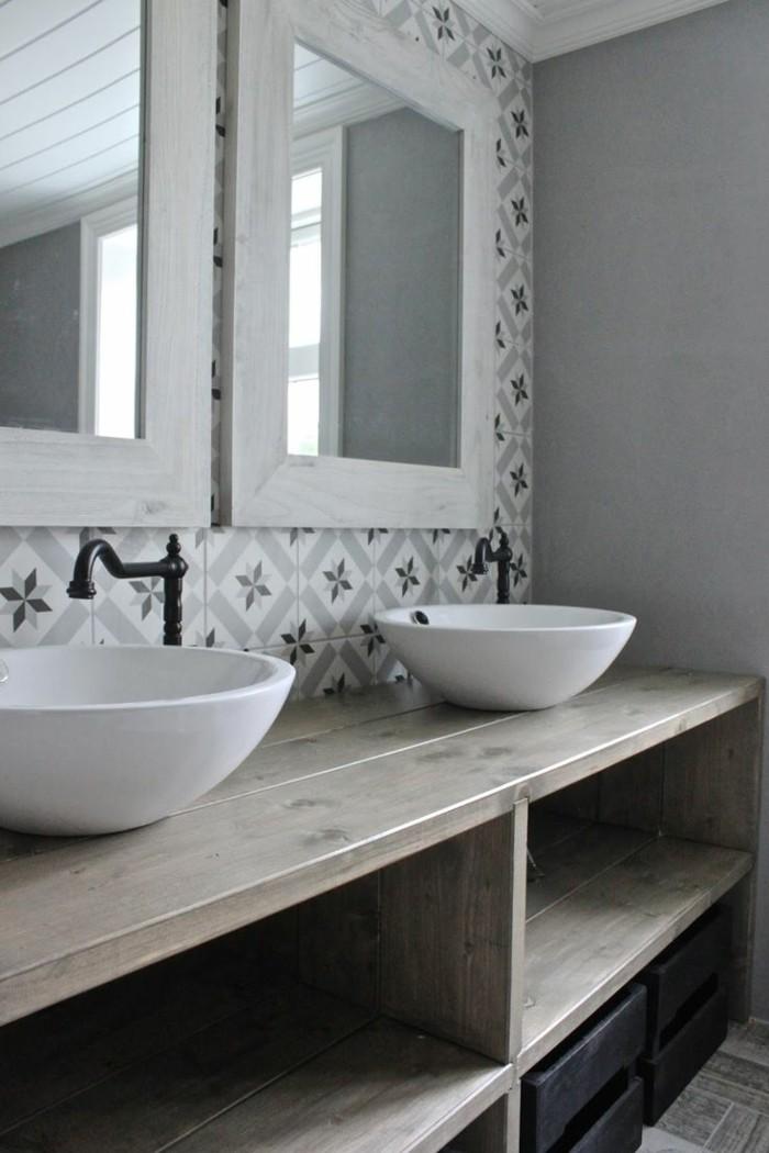 vintage fliesen badezimmer rustikale elemente