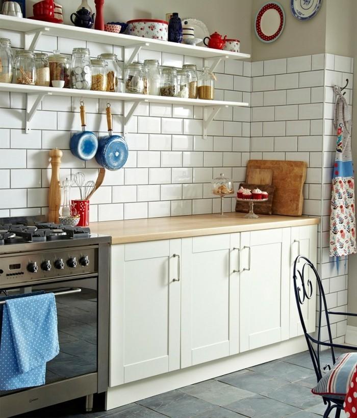 vintage fliesen küche einrichten ideen metro fliesen küchenrückwand