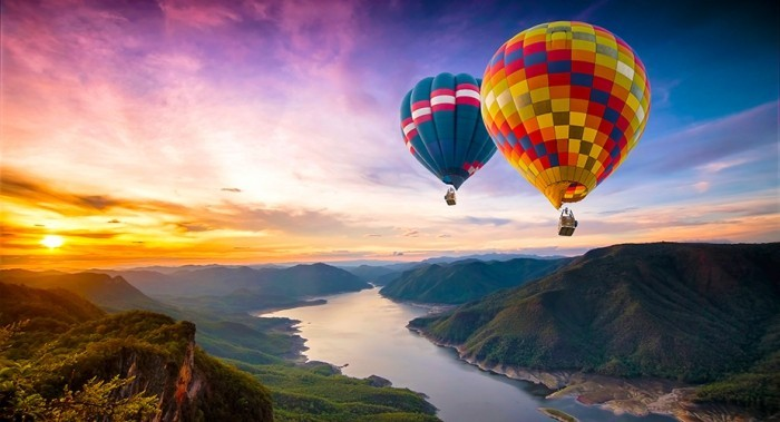 wandbilder baloons luft
