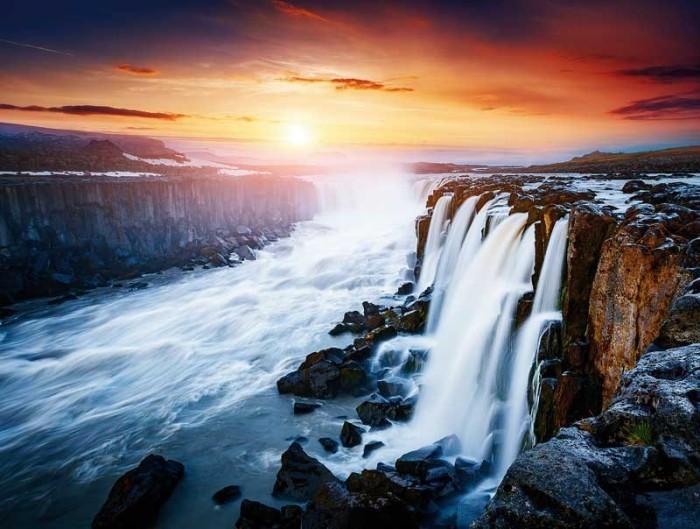 wandbilder schöne wasserfälle
