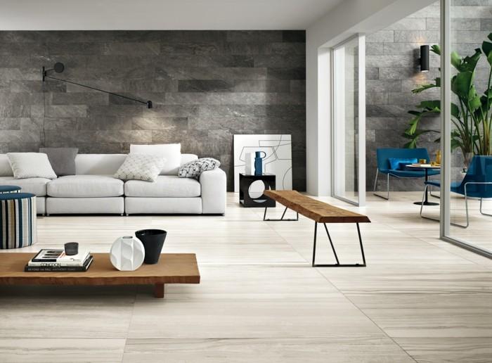 Wandfliesen Wohnzimmer als eine wundervolle Alternative für ...