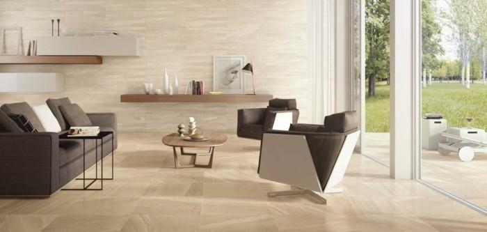 wandfliesen wohnzimmer helles design moderner wohnbereich