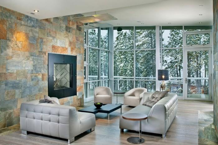 wandfliesen wohnzimmer modernes design schöne aussicht
