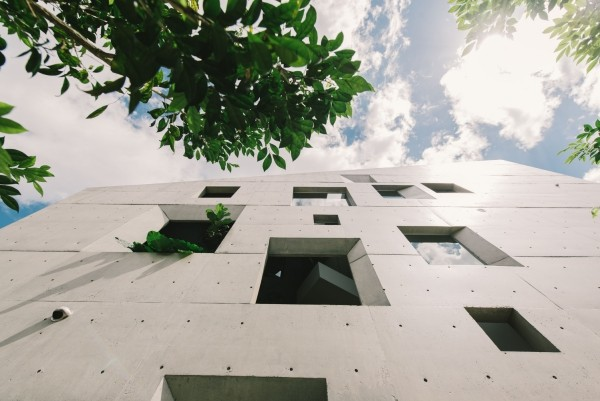 wandgestaltung mit fenstern moderne architektur