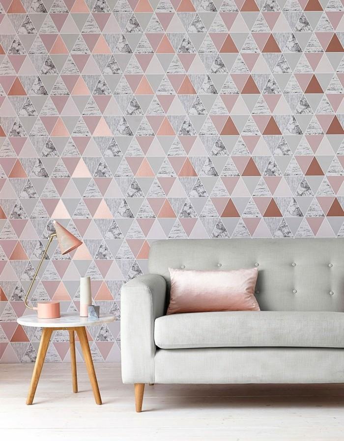 frühlingsfarben elegantes wohnzimmer design tapeten