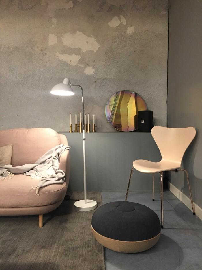 wohnzimmer lampen leuchten tends 2018 rosa lachs