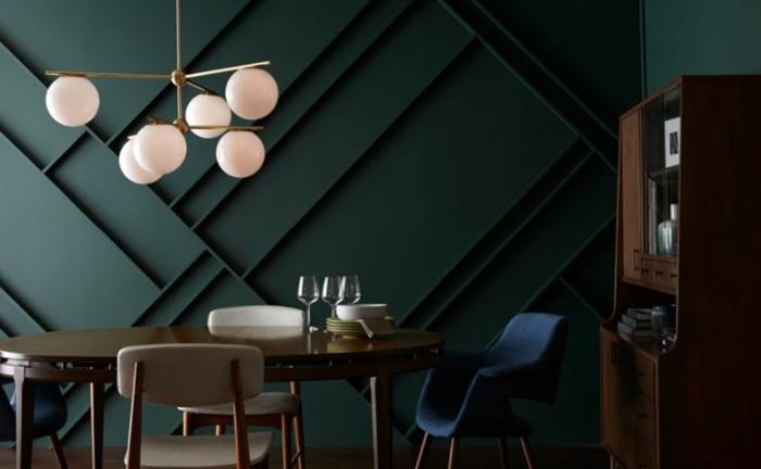 wohnzimmer lampen leuchten trends 2018 stilmix perser teppich designer lampe