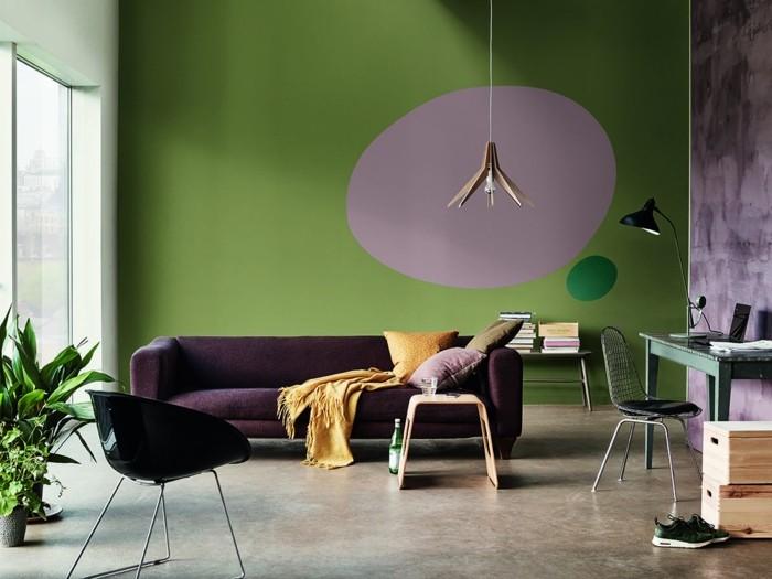 wohnzimmer lampen leuchten trends 2018 stilmix perser teppich gedeckte farben