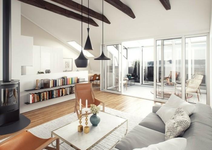 Wohnzimmer Lampen leuchten trends 2018 stilmix perser teppich moderne lampen