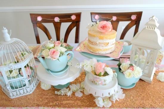 Vintage tee party deko die alte tradition erscheint im neuen glanz fresh ideen f r das - Pastellfarben deko ...