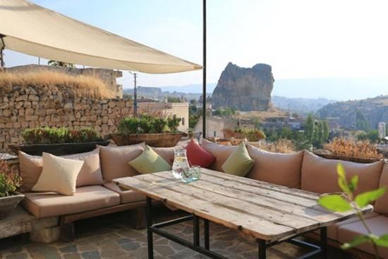 Anitya Höhle Kappadokien Türkei Terrasse atemberaubender Panoramablick