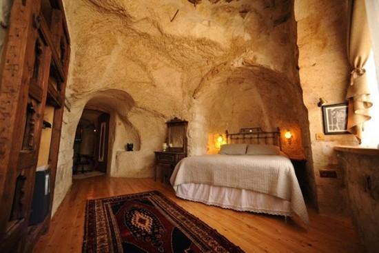 Anitya Höhle Kappadokien, in der Türkei urige Schönheit mit viel Behaglichkeit kombiniert.