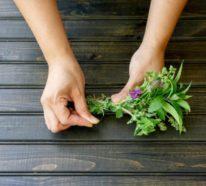 Girlande aus frischen Kräutern – eine tolle DIY Idee für leidenschaftliche Bastler/innen