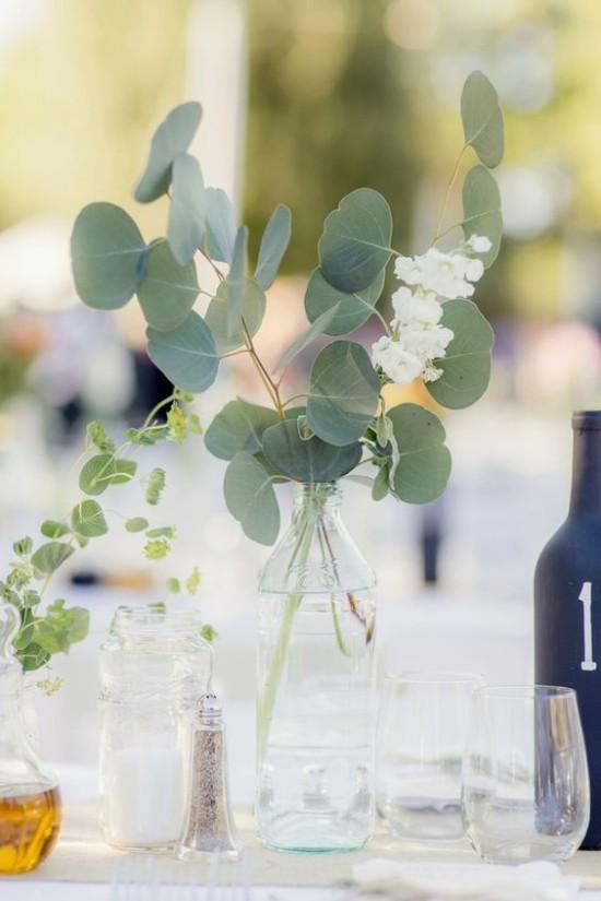 Eukalyptus Blätter Dekoration in Vase frischer Duft