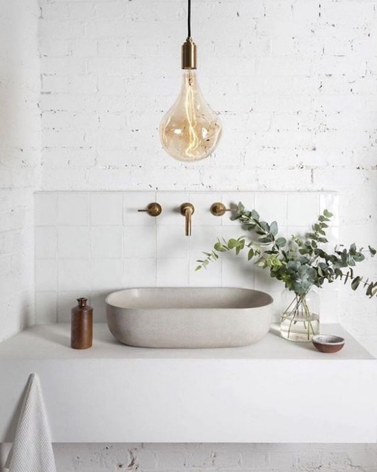Eukalyptus Blätter erfrischender Duft im Badezimmer