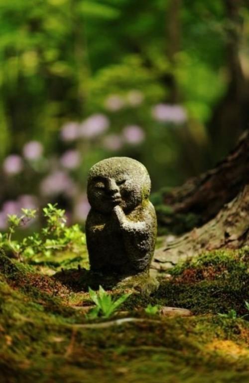 Feng Shui Gartenideen kleine Gartenfiguren