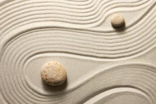 Gartenideen Gleichgewicht zwischen weiblichem Yin und männlichem Yang