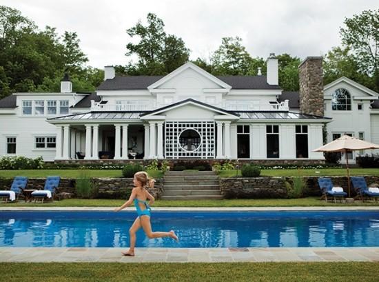 Gartenpools luxuriöse Immobilien Sportbetätigung für Kinder