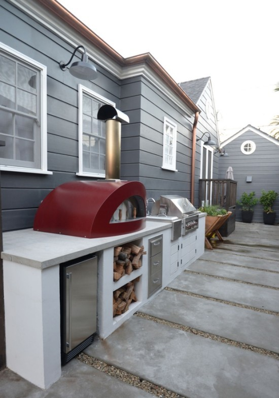 Gemauerte Outdoor Küche interessantes Design