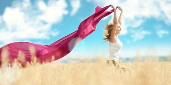 Glücklich sein Schönheit Freiheit der Natur