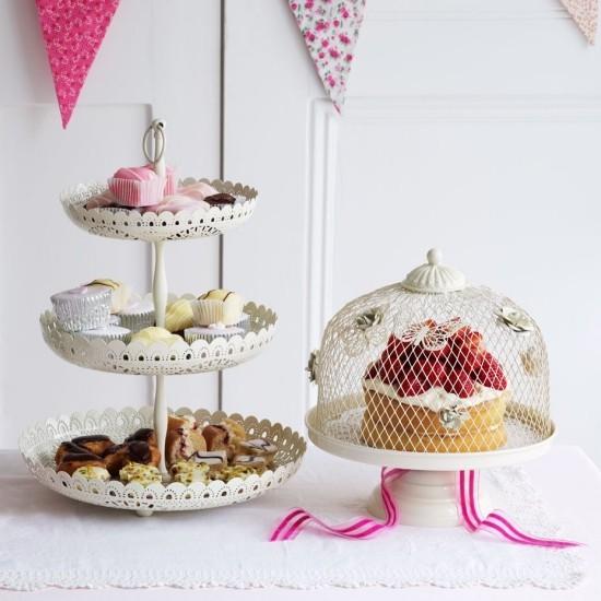 Kuchenständer Cupcakes Käfig Torte im Vintage Stil