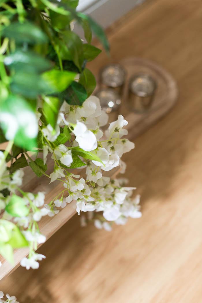 Lichterkette kleines pflanzliches detail
