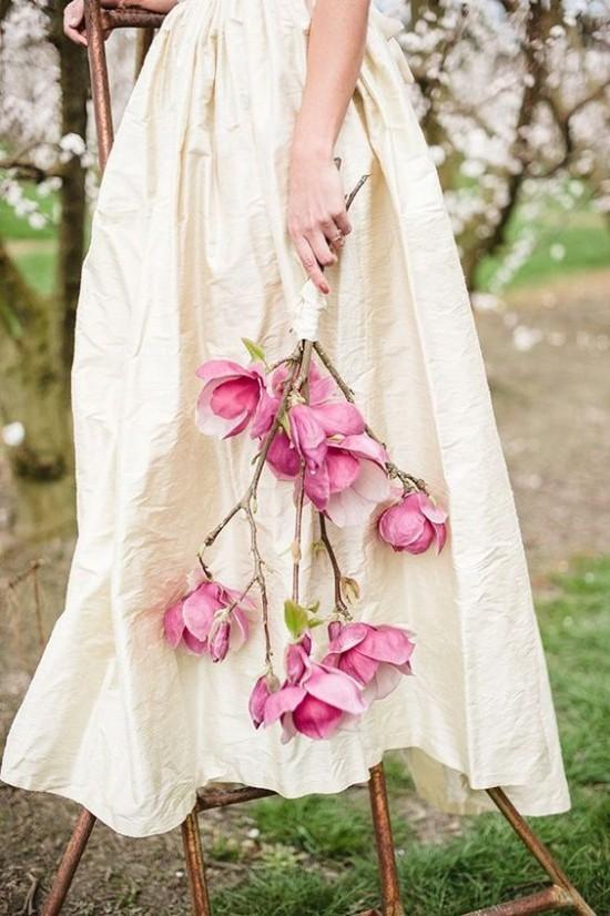 Magnolienblüten symbolisieren Sehnsucht Wärme Nähe