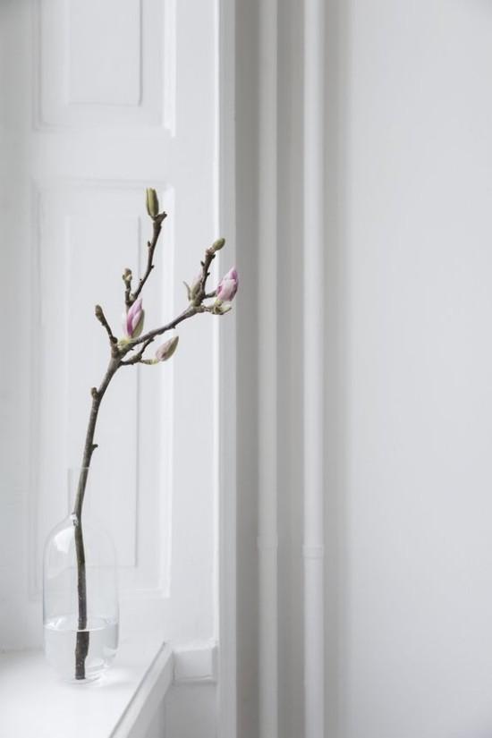 Minimalistische Deko Magnolienzweig natürliche Schönheit