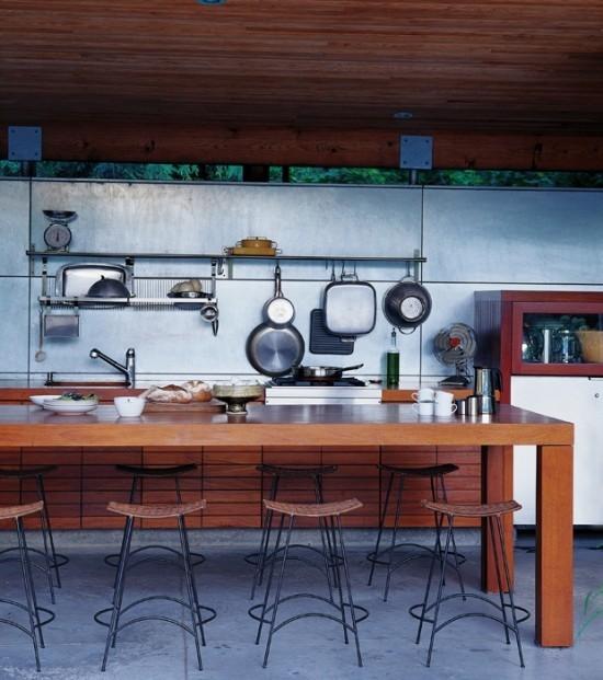 Outdoor Küche im industriellen Stil Überdachung