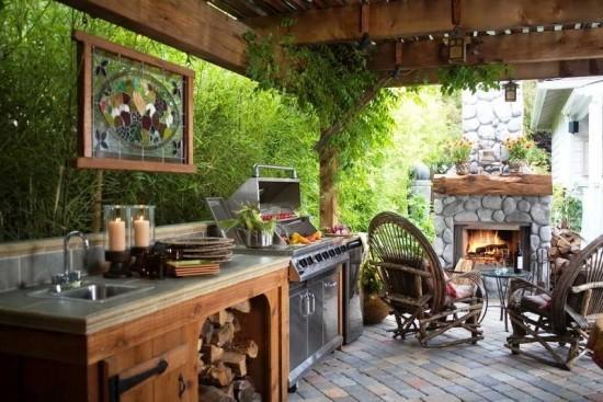 Outdoor Küche moderne Küchengeräte ideen