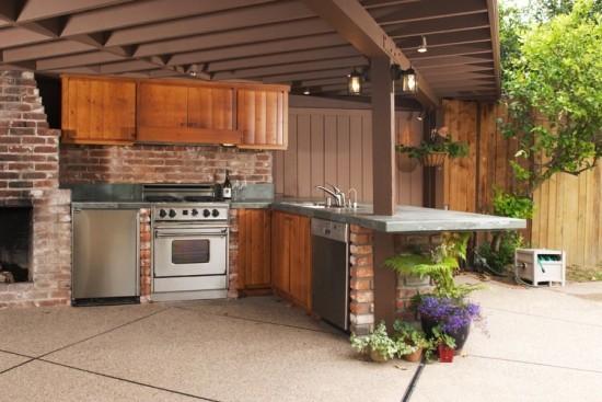 Outdoor Küche moderne Küchengeräte