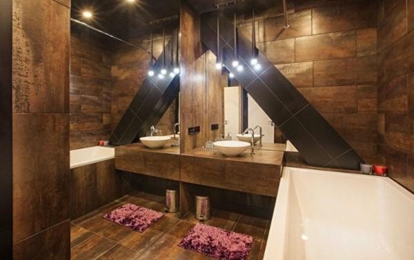 Rustikaler Stil Natur Wände bad neu gestalten
