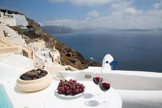 Santorini Griechenland Höhlen vulkanischen Ursprungs